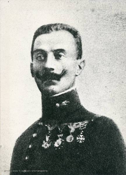 Photo capitaine Jacob Junod (1er RE/2e RM) mort pour la France le 29 septembre 1915