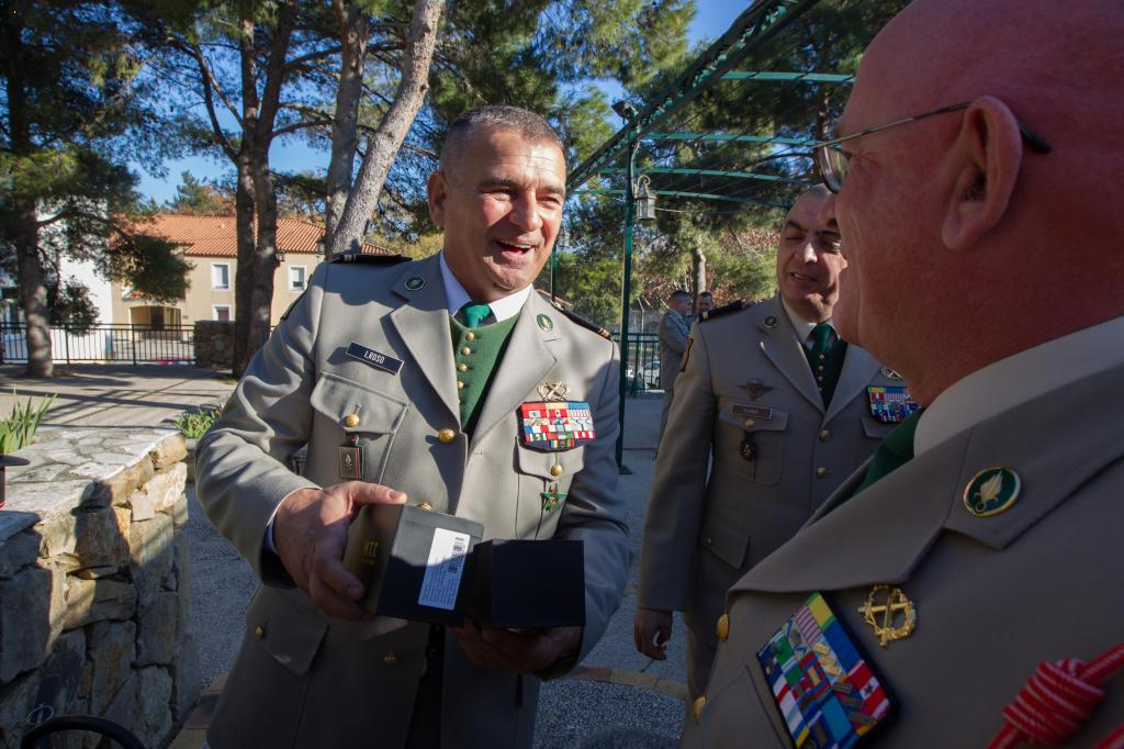 Major Roso left the Foreign Legion