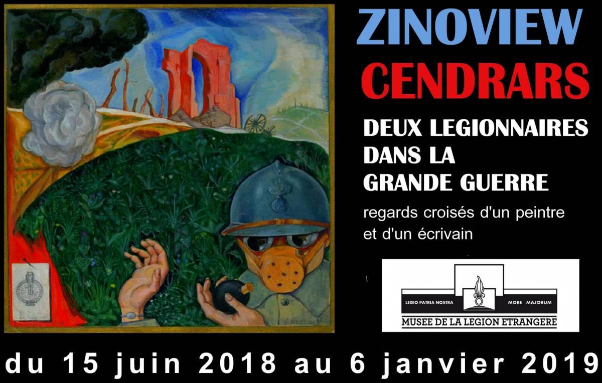 «Zinoview - Cendrars : Deux légionnaires dans la Grande Guerre» Exposition-Zinoview-Cendrars-Legion-etrangere-PM