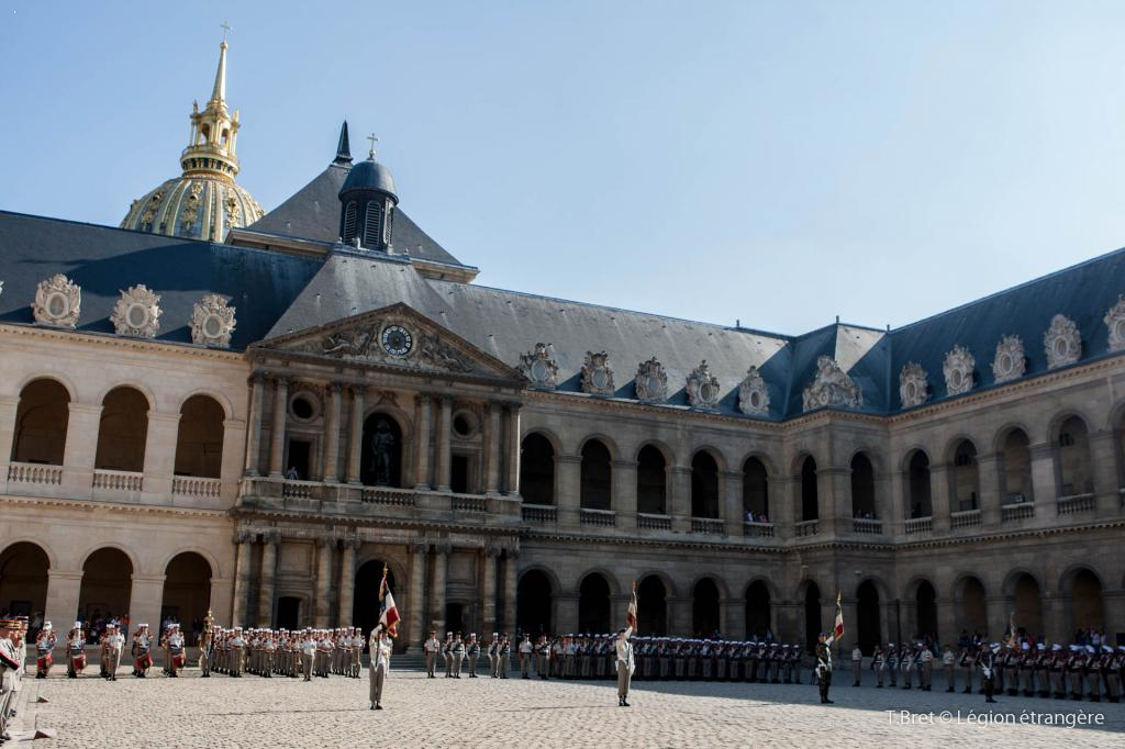11th July 2013 - legionnaires in front of Les Invalides